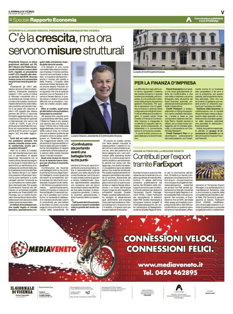 Comunicato stampa - Il Giornale di Vicenza - Confindustria
